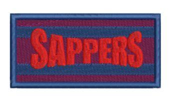 Sapper embroidered flash